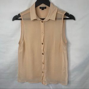 Topshop See-through blouse size 6